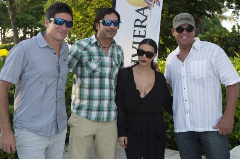 Nicolás Melani, Javier Alvarez, Kim Kardashian y Scott Chandler.