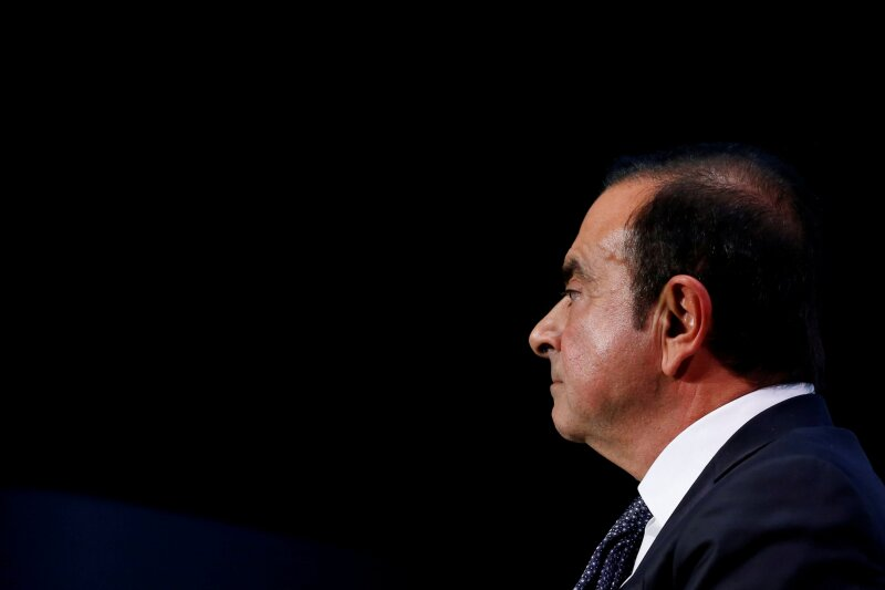 FILE PHOTO: Carlos Ghosn, chairman and CEO of the Renault-Nissan-Mitsubishi Alliance, attends the Tomorrow In Motion event on the eve of press day at the Paris Auto Show, in Paris