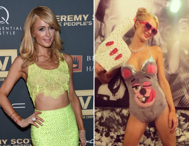 Paris Hilton disfrazada de Miley Cyrus