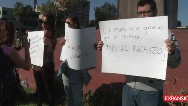 manifestación migrantes centroamericanos