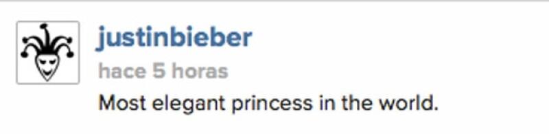 Justin halagó la elegancia de su ex novia.