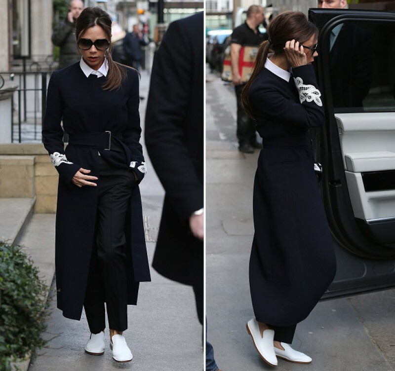 Victoria asegura que ya no puede más con los tacones, por lo que prefiere optar por unos zapatos más cómodos para ir a trabajar.