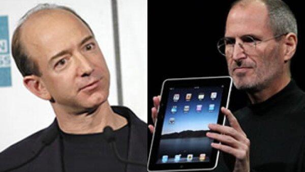 Jeff Bezos (izq) tiene grandes ideas como Steve Jobs (der), pero no tienen las mismas cualidades. (Foto: Getty Images)