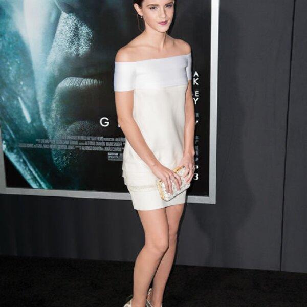 Emma en la premiere de Gravity en Nueva York en 2013.