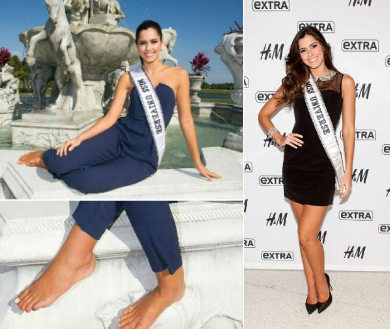 Izquierda: Otro detalle del pie de Paulina. Derecha: Miss Universo conquista NYC.