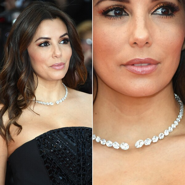 Para la premiere de `Money Monster´, Eva Longoria usó el collar `Diamants Célestes´de 45.8 quilates de Messika.