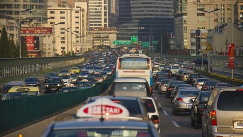 China tránsito tráfico