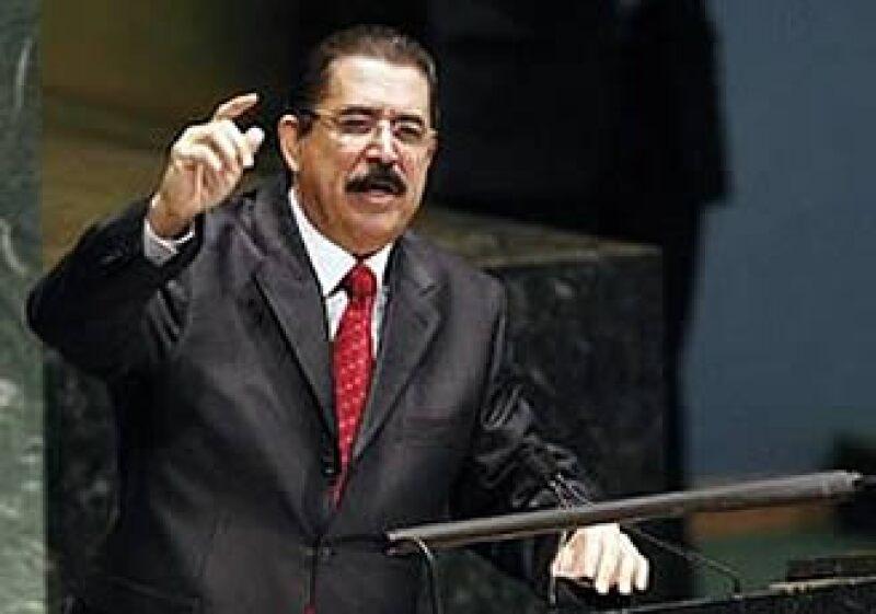 José Manuel Zelaya, despuesto presidente de Hondura, se presentó ante la ONU en Nueva York.  (Foto: Reuters)