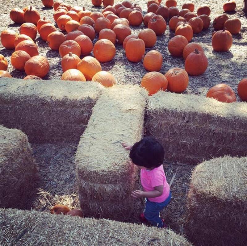 Para este Halloween Aitana ha disfrutado mucho, pues es su primera celebración.