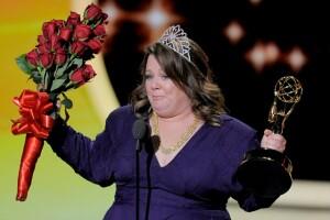 La actriz Melissa McCarthy ganó el premio a mejor actriz de comedia por su participación en Mike & Molly.