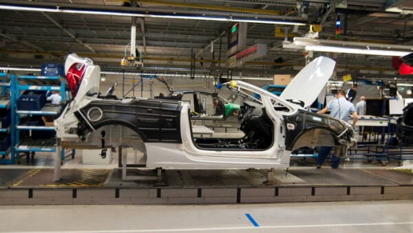 Cabriolet on the production line