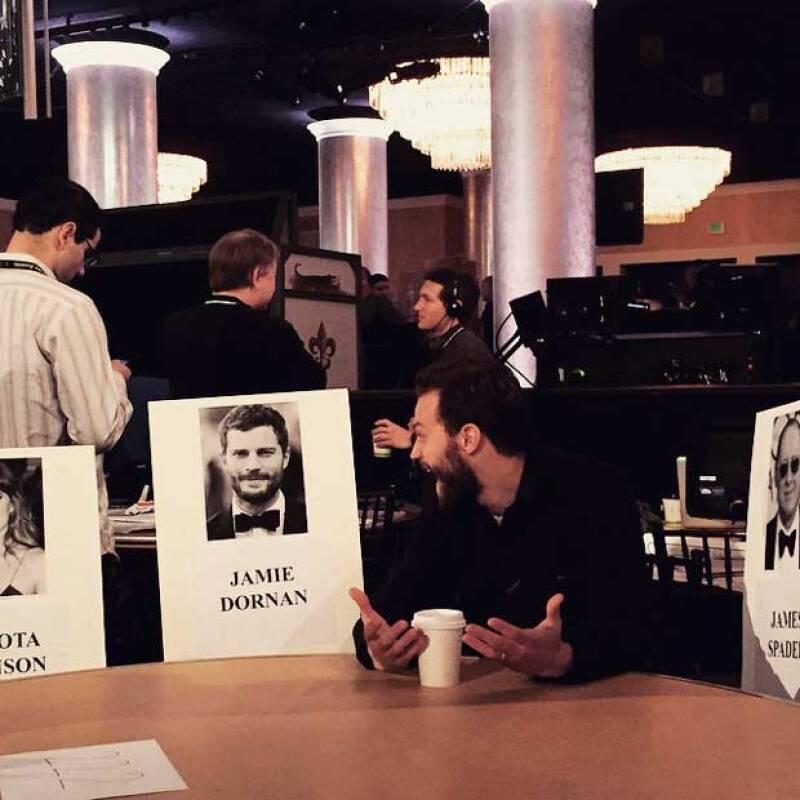 El nuevo galán de Hollywood asistiendo al ensayo previo a los Golden Globes.