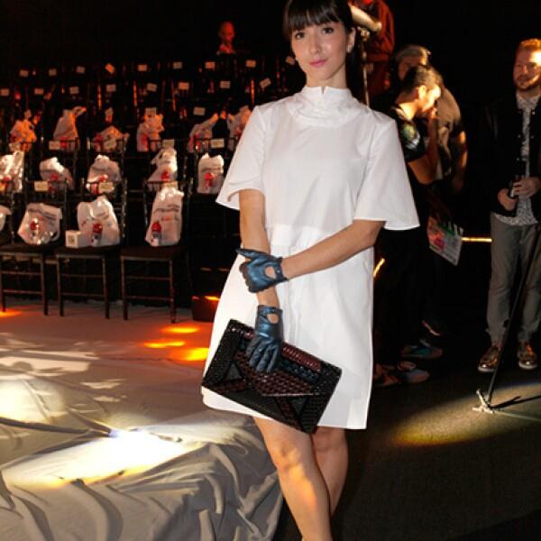 Eréndira Ibarra en el primer día del Mercedes Benz Fashion Week México.