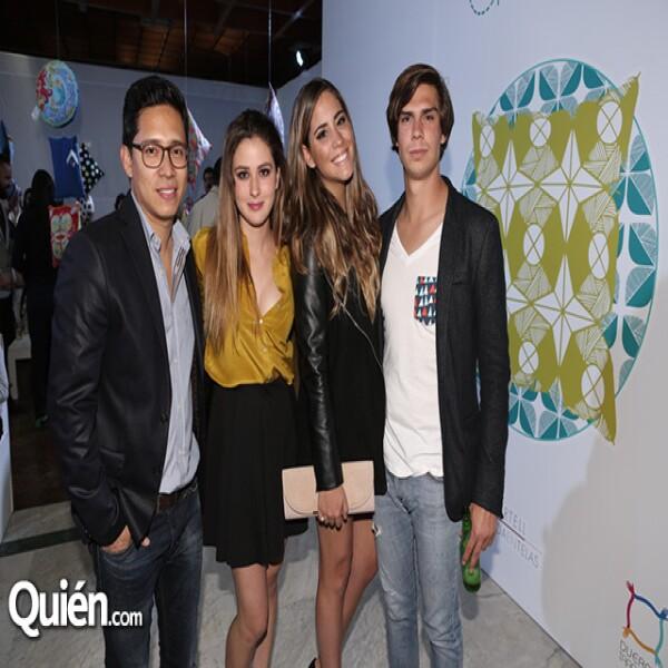 Victor Olivares, Valeria Bolivar, Michelle Sandra y Gonzalo Ramírez
