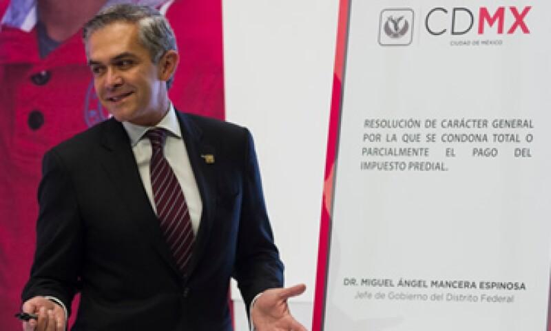 El jefe de Gobierno, Miguel Ángel Mancera, dijo que la reforma política otorga a la capital 'una nueva visión de la Ciudad'. (Foto: Cuartoscuro/Archivo)