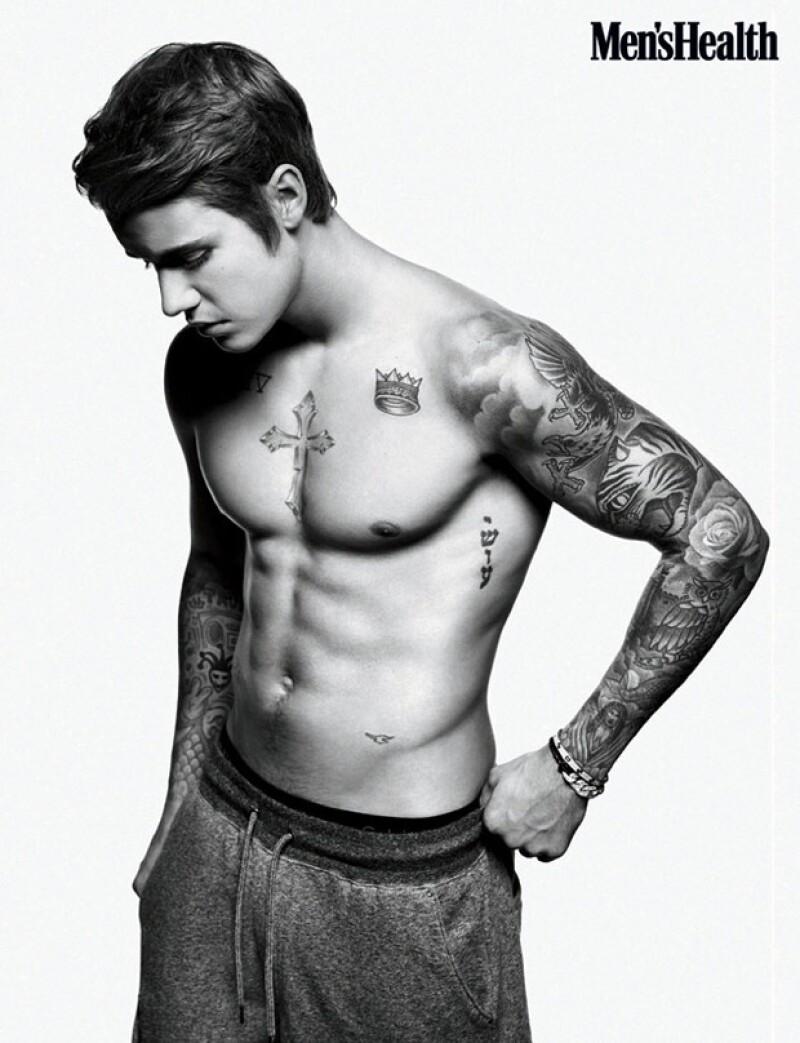 Aunque el objetivo de la publicación era el mostrar la reinvención de Justin, lo que nos deja boquiabiertos son las imágenes.