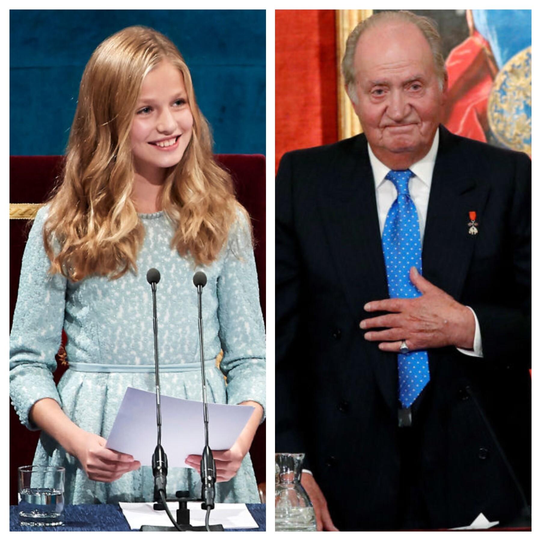 Princesa Leonor y el rey Juan Carlos