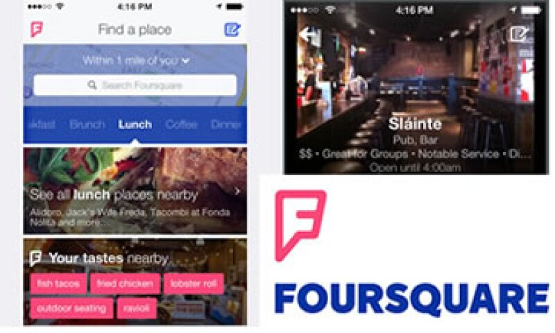 La aplicación ahora dará recomendaciones de lugares basadas los gustos del usuario (Foto: Cortesía Foursquare)