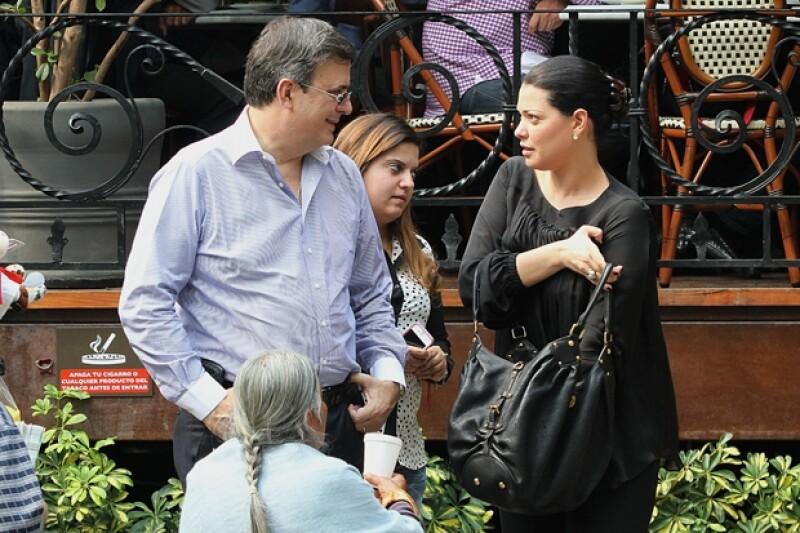 La pareja fue captada en abril de este año mientras salían de comer en un restaurante de la ciudad de México junto a la hija de Marcelo, Anne Nicole.