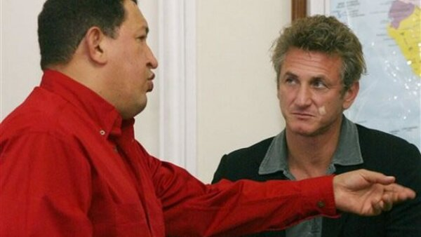 Con el actor Sean Penn.
