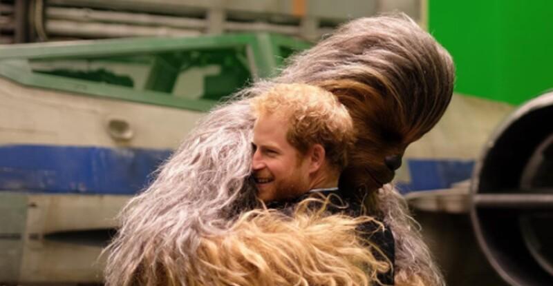 Harry en el set de Star Wars