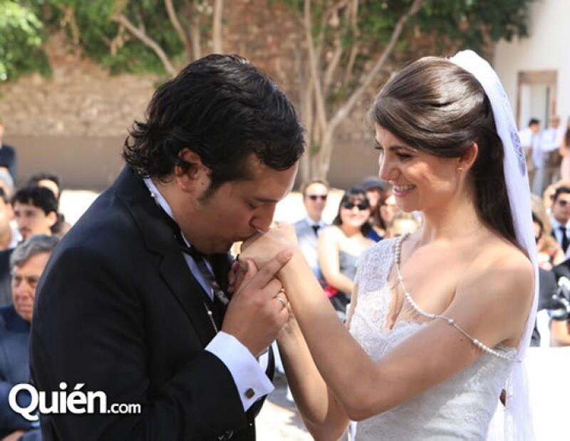 La pareja tuvo muchos momentos románticos durante la celebración.