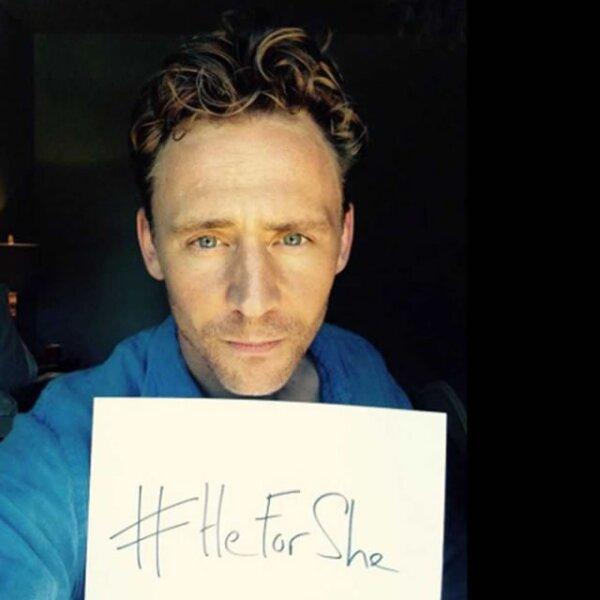 Tom Hiddleston escribió en su Twitter: `Emma Watson, eres impecable y extraordinaria. Estoy contigo. Creo en la equidad de género.