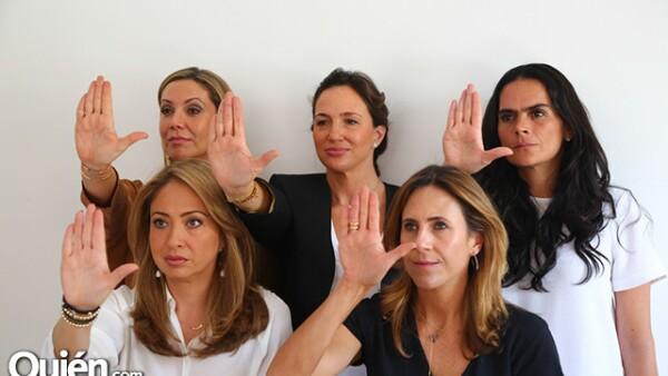 Arriba: Vero Noriega, Mariana Baños y Fernanda Elías Calles. Abajo: Michelle Jolyt y Erika Hoje