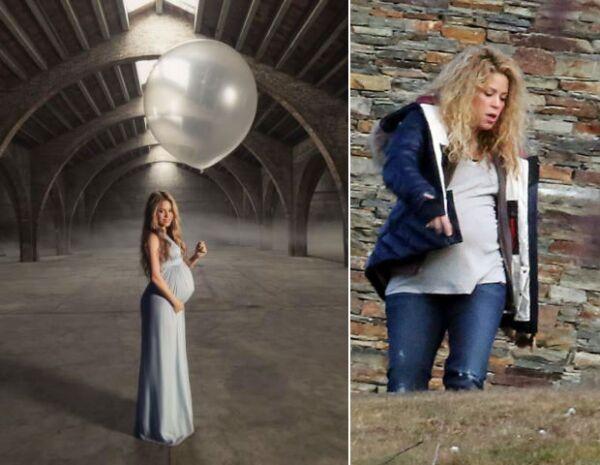 Así luce la cantante colombiana en la recta final de su embarazo.