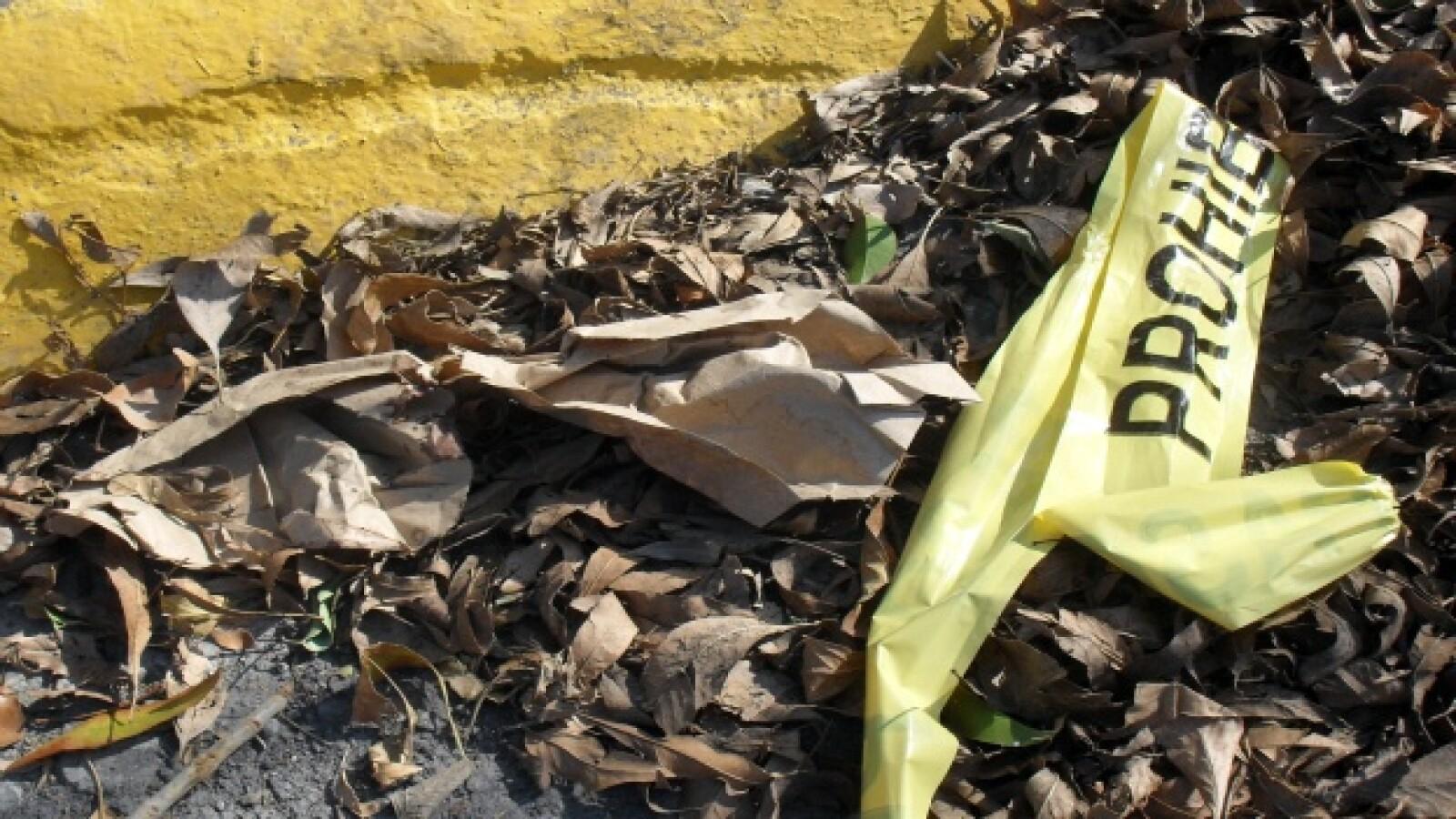 Foto del parque La Cañada, en Cumbres 5o. sector, Monterrey, Nuevo León. Escenario de explosión de una granada que lesionó a tres niños