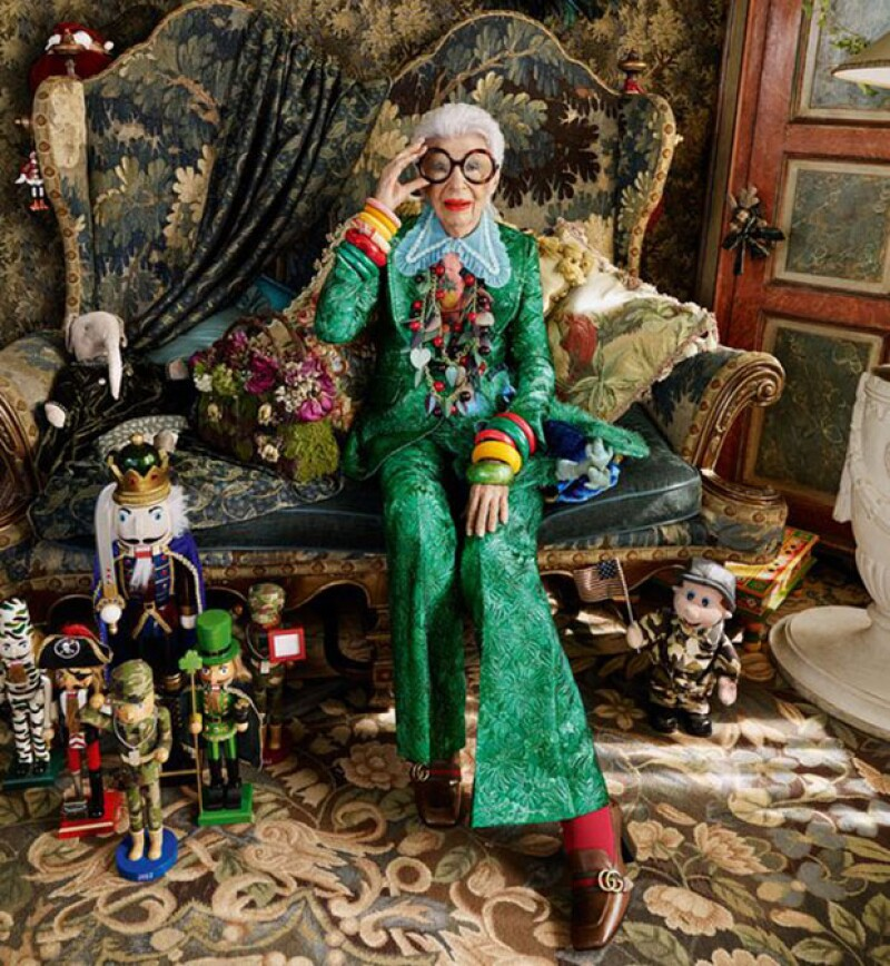 La fashion influencer de 94 años, revela su colaboración más reciente.