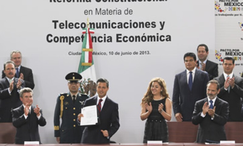 El acto de la promulgación fue encabezado por el presidente Enrique Peña Nieto. (Foto: Cuartoscuro)