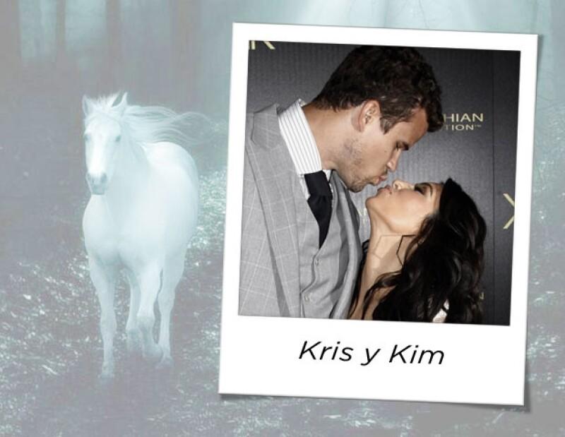 Kim y Kris terminaron su relación luego de 72 días de matrimonio, pero durante la propuesta de matrimonio hubo caballos blancos.