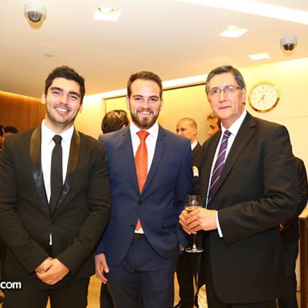 Efren Villarreal,Juan Carlos Jiménez y Mario Barragán