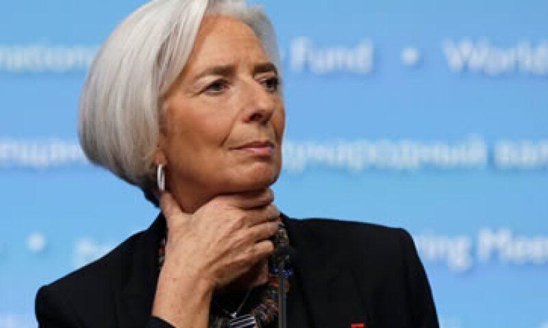 Christine Lagarde está involucrada en un caso donde supuestamente se  benefició el empresario francés Bernard Tapie.  (Foto: AFP)
