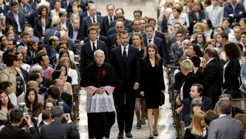 La pareja apoyó a las familias de los fallecidos.