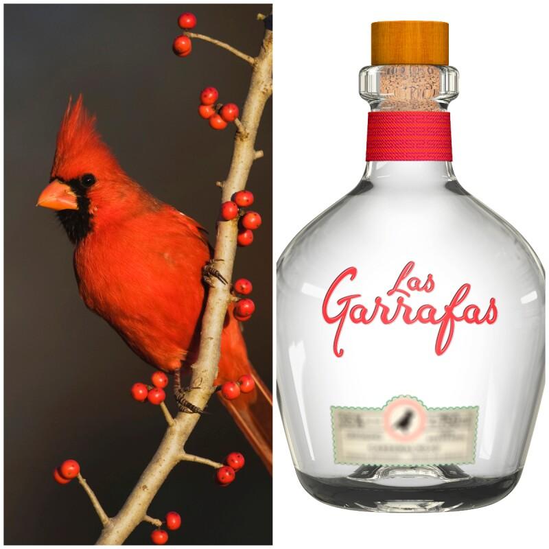 Cardenal rojo y tequila reposado