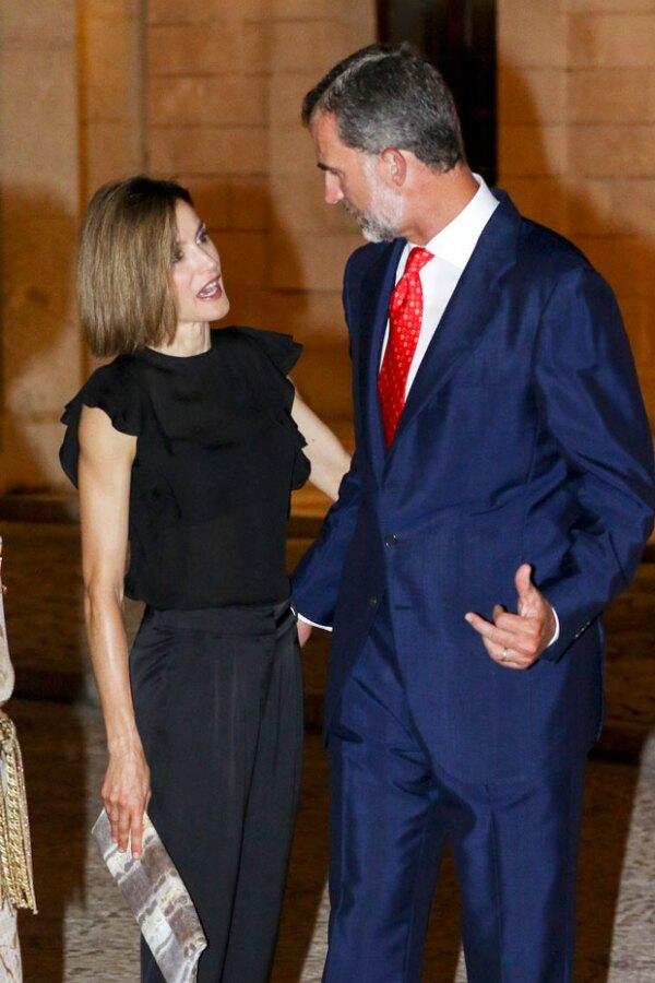 Los reyes atendieron una cena en Palma de Mallorca, a donde también asistió la reina Sofía.