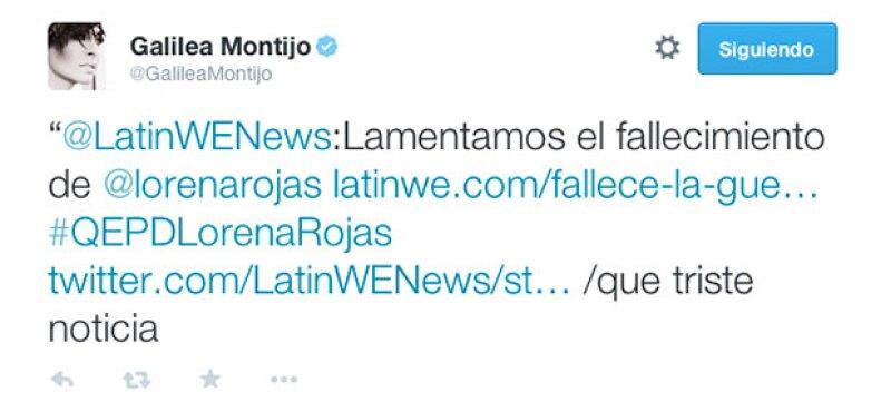 Galilea Montijo se unió a la pena tras el fallecimiento de Lorena Rojas.