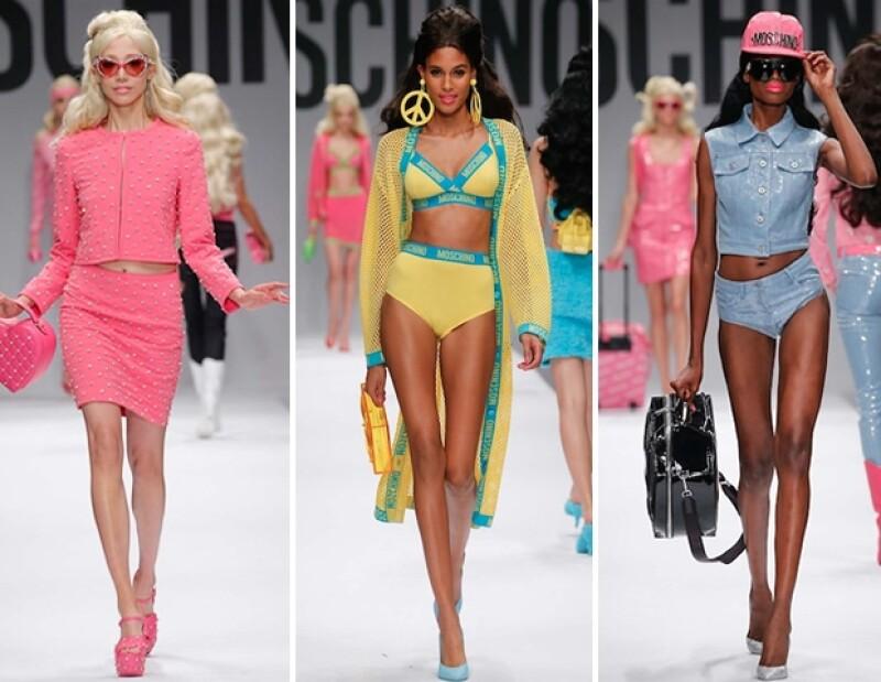 Las modelos se convirtieron en la auténtica muñeca glamourosa creada en 1980, Barbie.