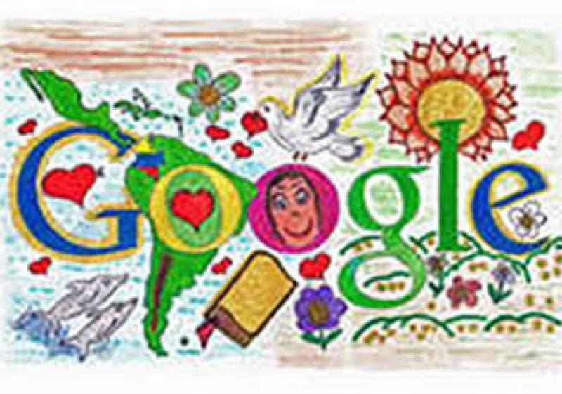 Este fue el dibujo ganador que adornará la página de Google el próximo 12 de octubre. (Foto: Cortesía Google)