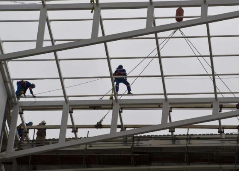 Retraso de obras en el estadio Arena Corinthians, de Sao Paulo; Brasil