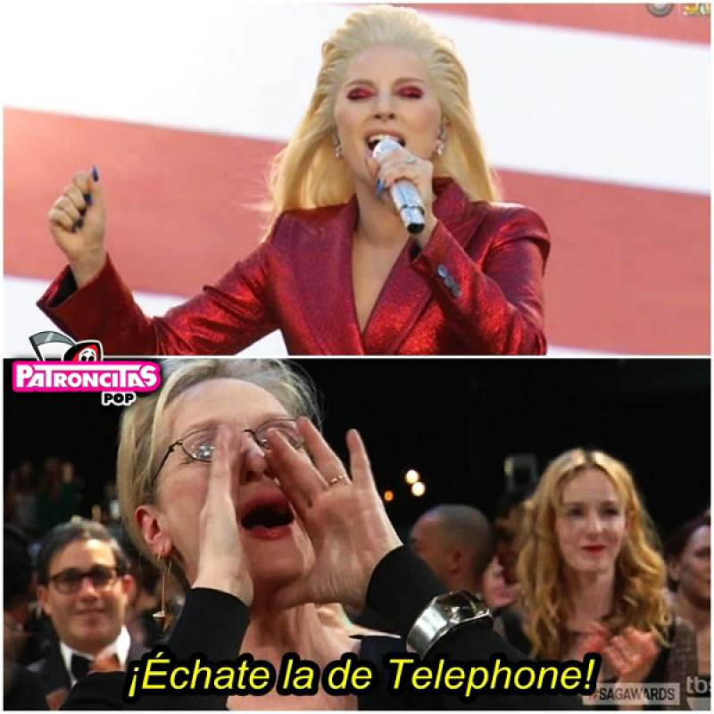 Al parecer a la actriz no le impresionó la interpretación de Lady Gaga.