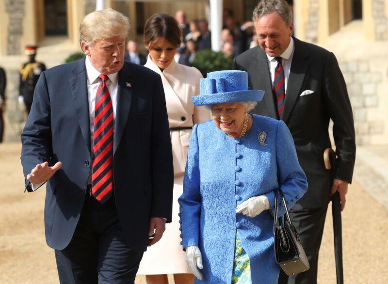 Trump y la reina Isabel