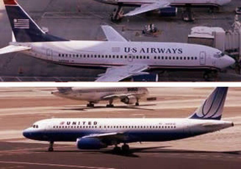 US Airways y United habrían formado la segunda aerolínea más grande de EU, de haberse fusionado. (Foto: Especial)