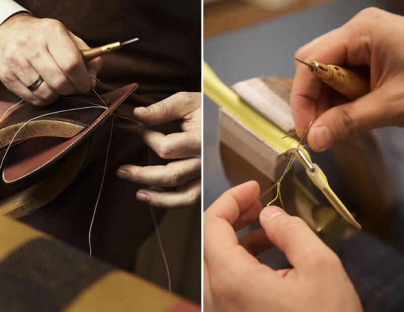 Los artesanos de Hermes nos explicaron que les toma 20 horas crear una Kelly Bag.