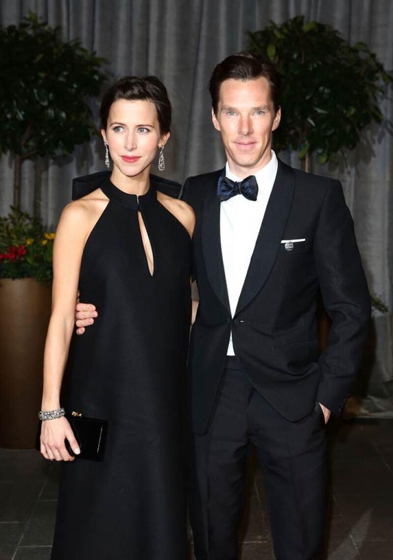 El actor nominado al Oscar no pudo elegir una mejor fecha para enlazarse con su prometida, Sophie Hunter, quien espera su primer hijo.