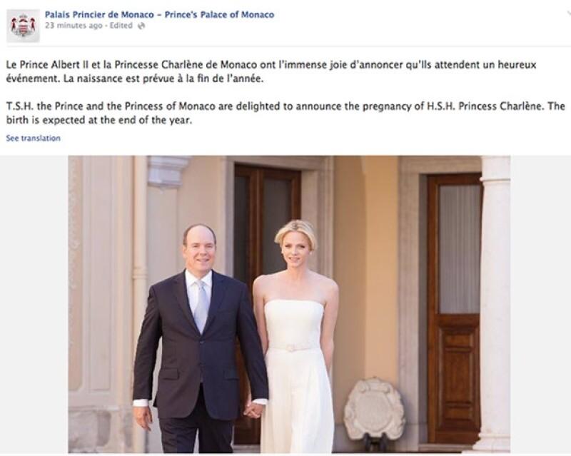 Así se anunció la gran noticia en el Facebook oficial de la Casa Real.