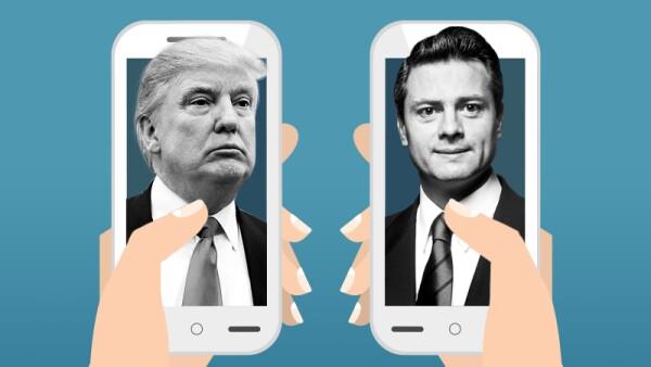 Enrique Peña Nieto y Donald Trump sostuvieron su primera llamada telefónica