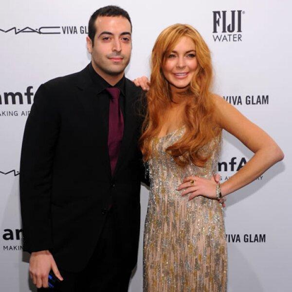 Mohammed Al Turki y Lindsay Lohan